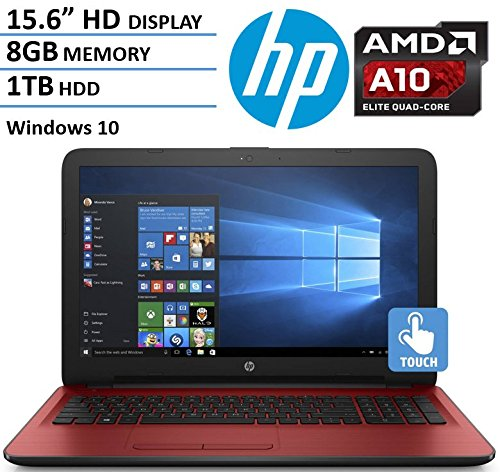 2017 Newest HP 156 HD Touchscreen Flagship Laptop Computer AMD Quad